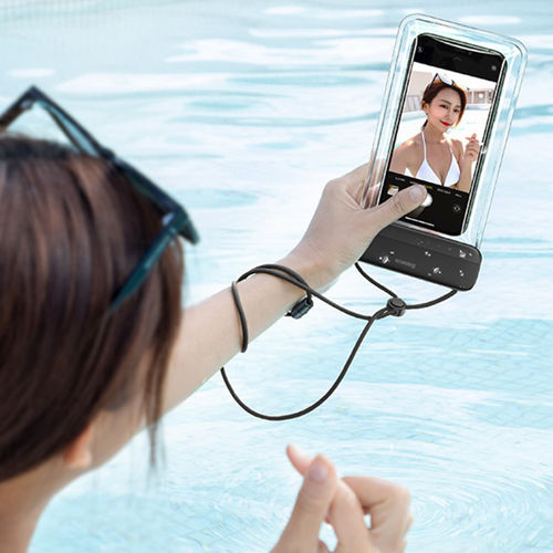 Baseus Let's Go IPX8 Waterproof Case Bag for Mobile / iPhone - Black